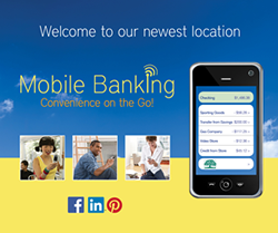 Mobile Banking Convenience on the go promo